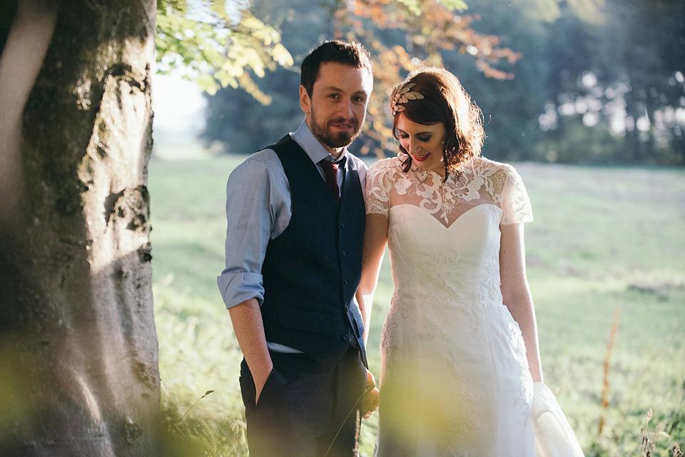 A Mia Mia Dress For A Scottish Wedding at Rowallan Castle