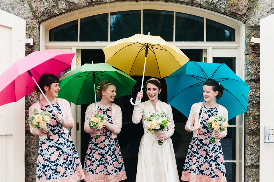 A Vintage Dress For A Rainy Day Humanist Wedding At Coo Cathedral