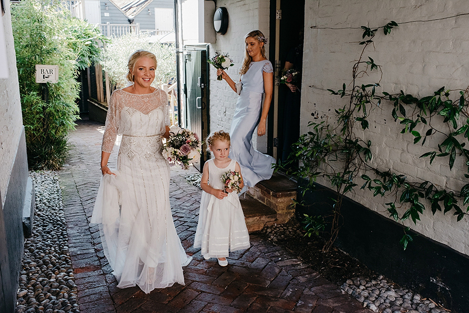 An Art Deco Inspired Eliza Jane Howell Gown for a Sweet Family Wedding in Rye (Weddings )