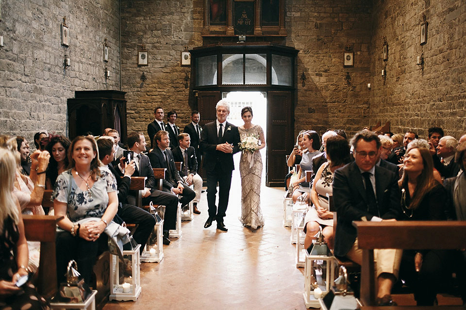 Eliza Jane Howell Beaded Gown Glamour for an intimate wedding in Tuscany (Weddings )
