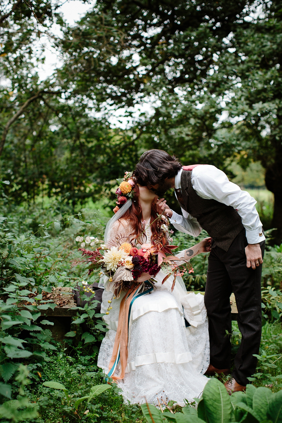A Humanist Woodland Wedding For An Ethereal Flame-Haired 1940's Bride (Weddings )