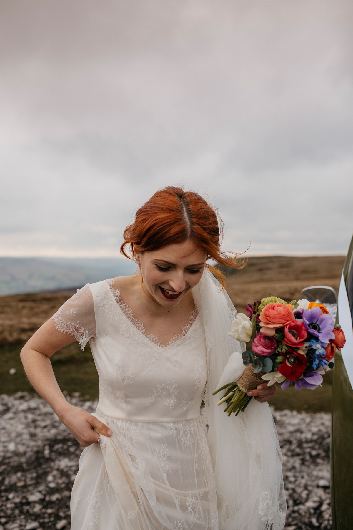 Yellow Shoes and Kate Beaumont Lace for a Colourful Wedding in Sheffield (Weddings )