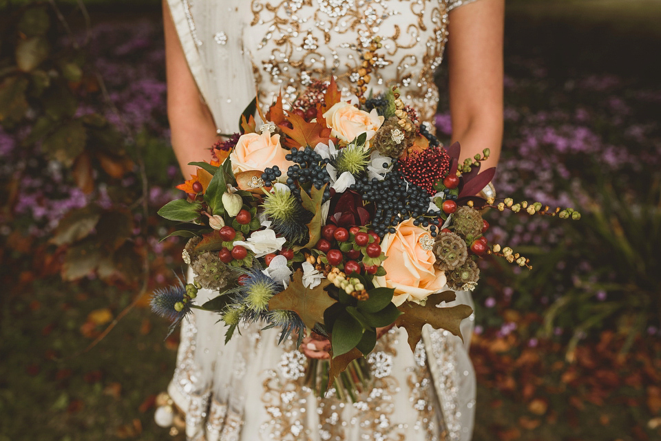 An Autumnal Anglo-Indian fusion wedding in the Cotswolds. Photography by Jackson & Co.
