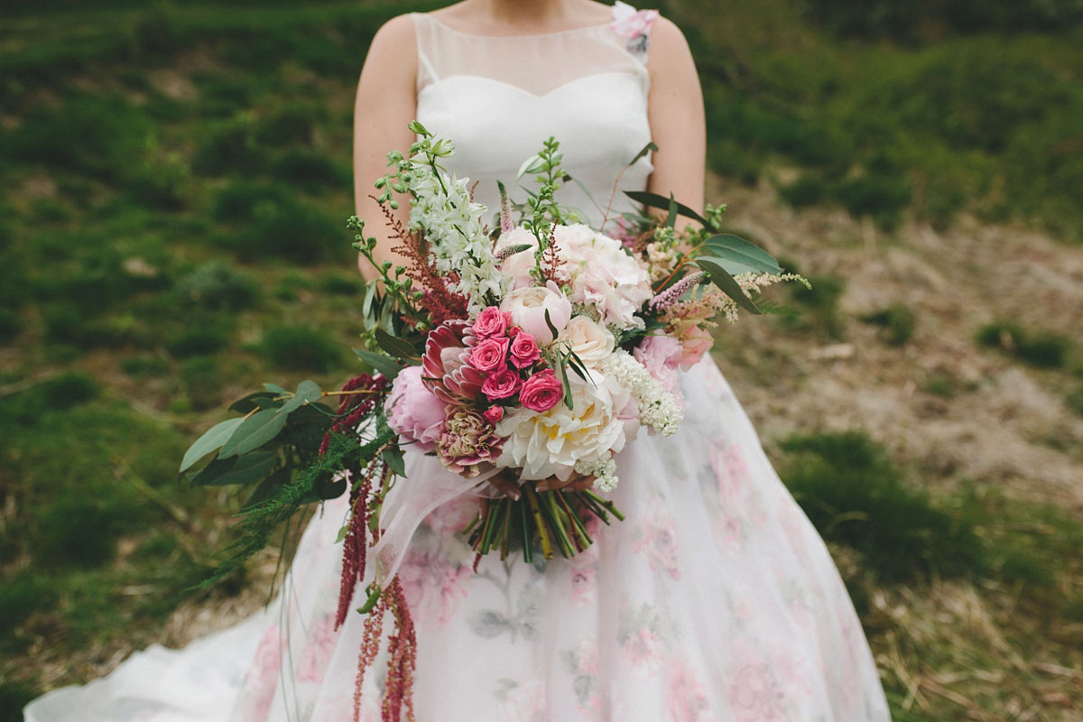 A Floral Wedding Dress by Sassi Holford for a Summer Celebration in the Peak District