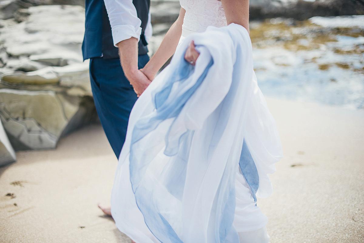 A Beautiful Blue Ombre Wedding Dress for a Barefoot Beach Wedding (Weddings )