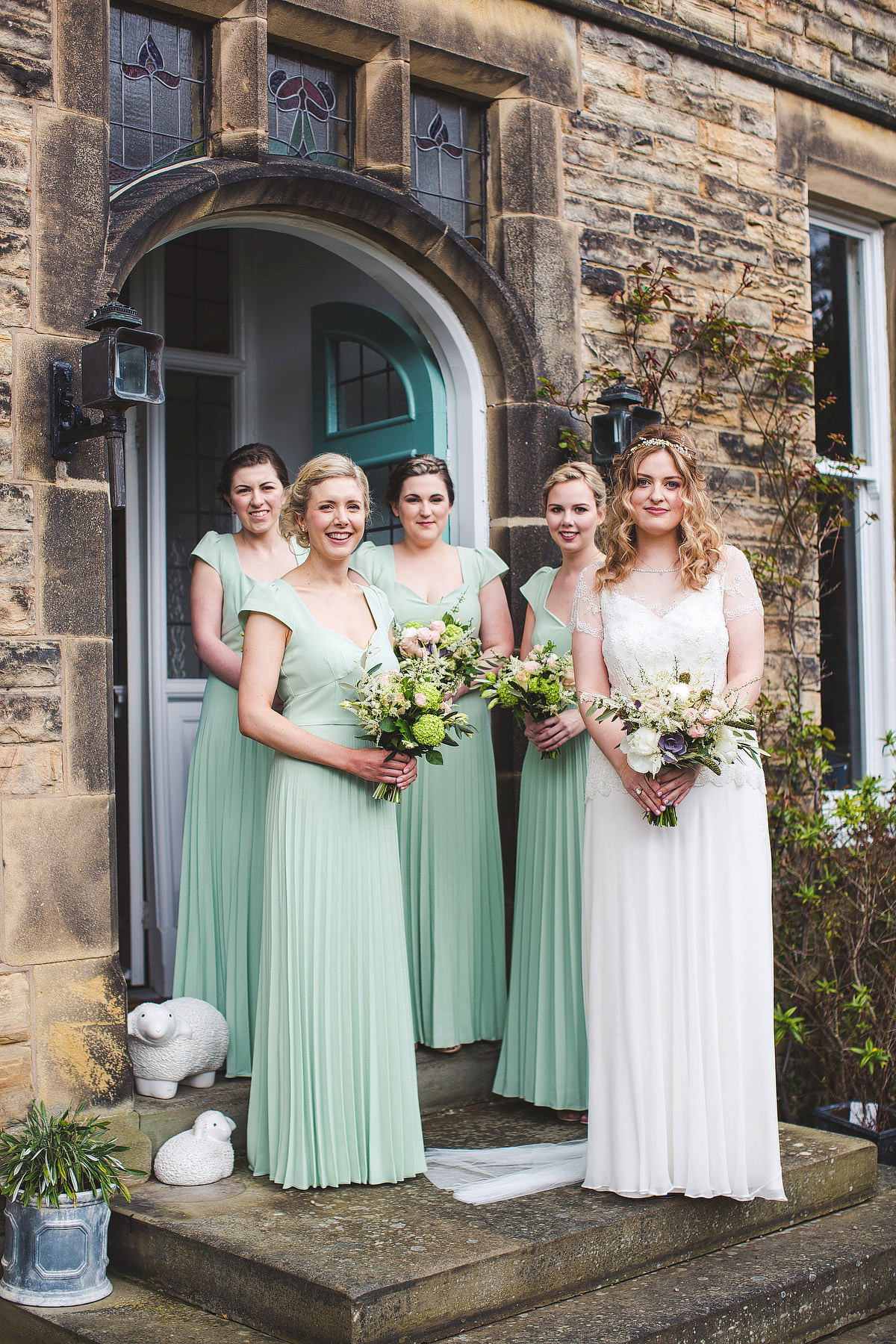 Jenny Packham and Wildflower Elegance for a Pastel Colour Wedding in the Peak District
