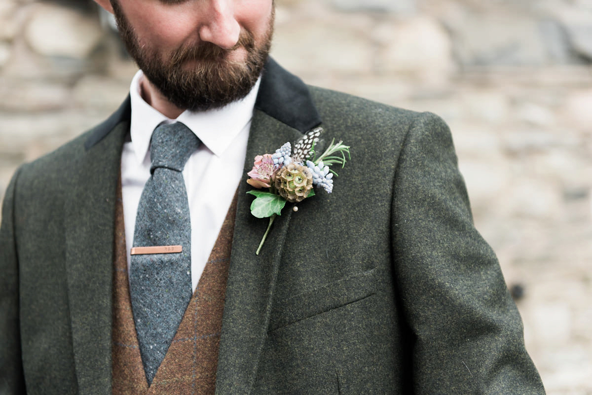 A YolanCris Dress for a Rustic Lake District Wedding with Intimate Charm (Weddings )