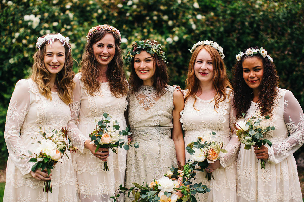 A Wild Woodland Inspired Devon Wedding For A Bohemian Bride In Green Lace