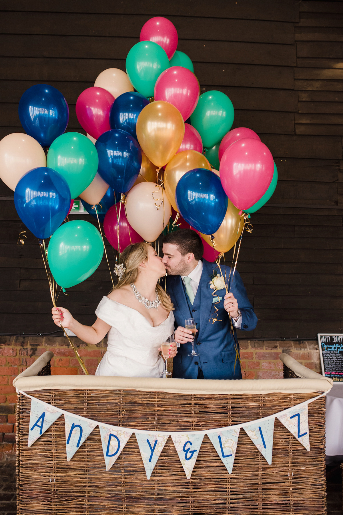 Vivienne Westwood Glamour for a Hot Air Balloon and Travel Inspired Summer Barn Wedding