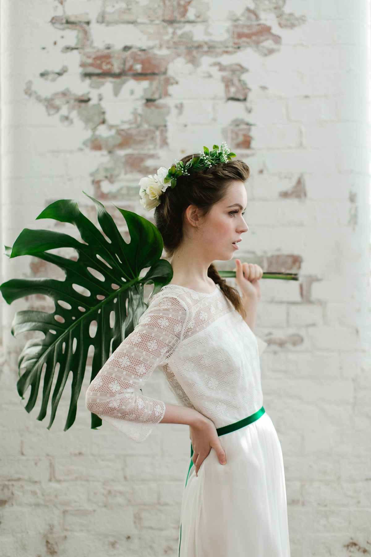 Fresh, Modern, Botanical and 1970's Inspired Bridal Style