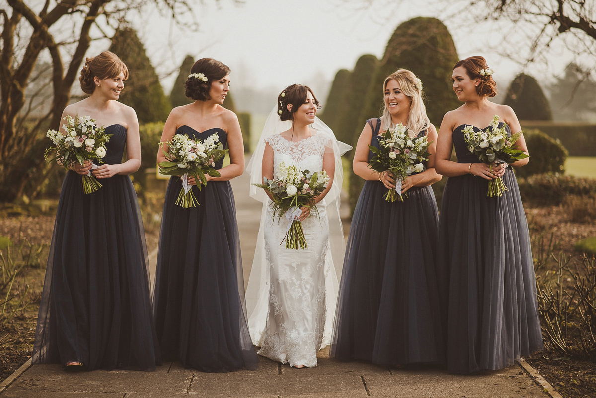 Bride Jade wore a Maggie Sottero gown for her romantic and elegant country house spring time wedding. Photography by Alexa Penberthy.