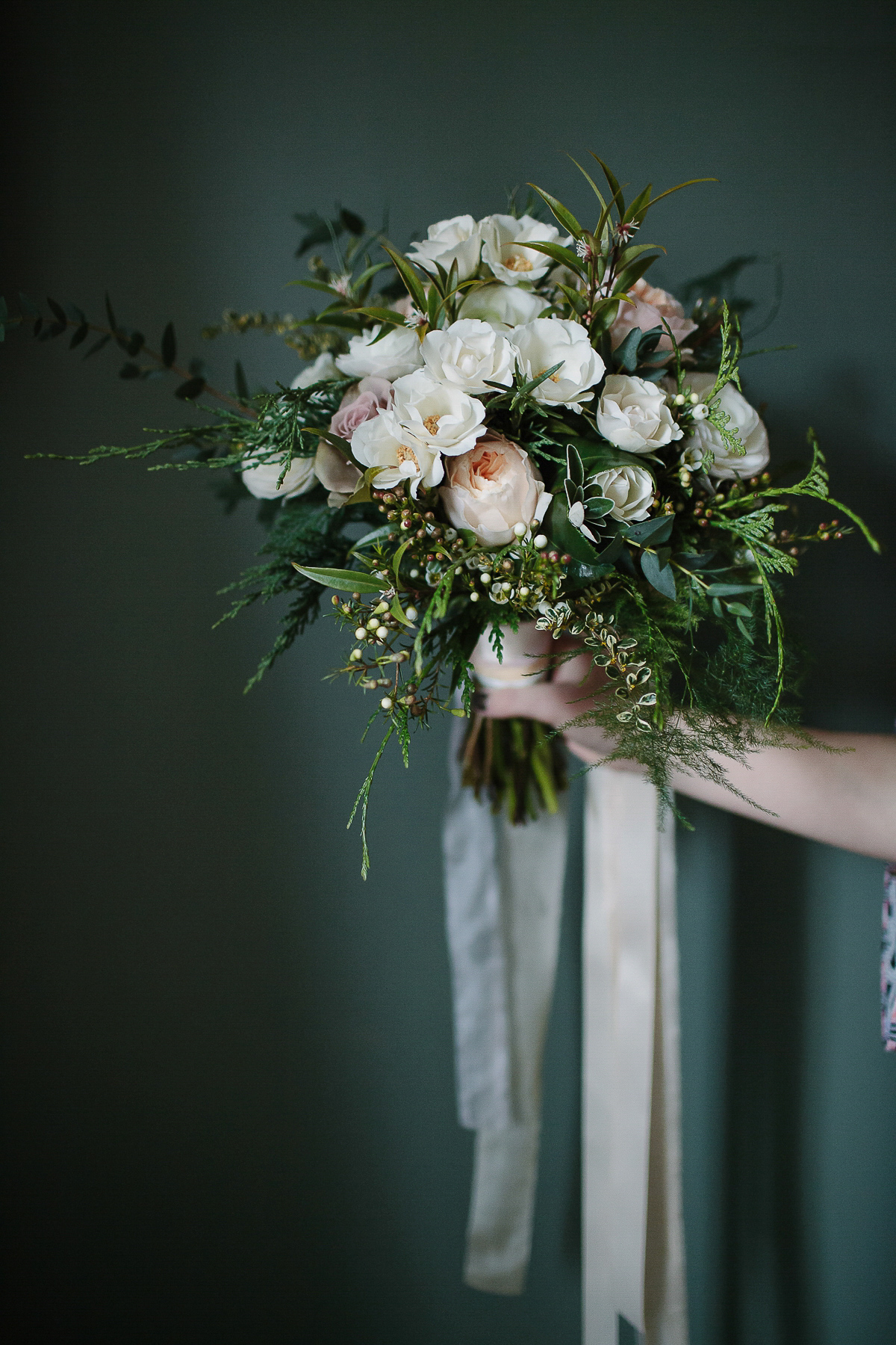 Charlie Brear and Bridesmaids in Ghost for a 1930's Inspired, Romantic Winter Wedding (Weddings )