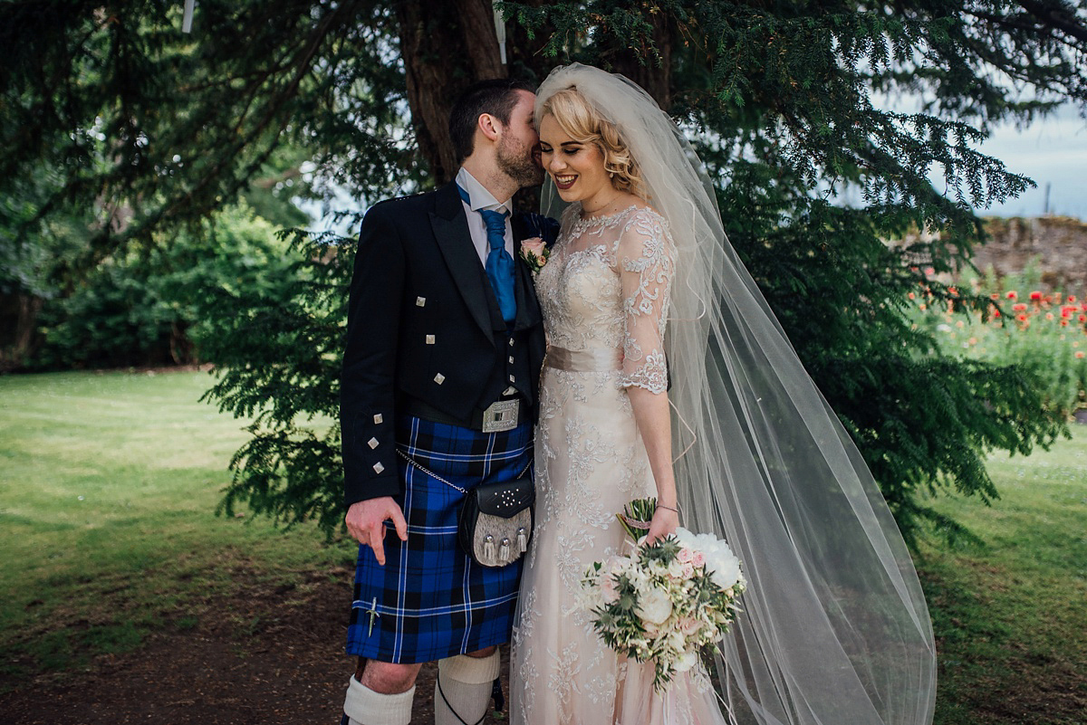 A Bride in Maggie Sottero for an American and Scottish, Travel Inspired Wedding
