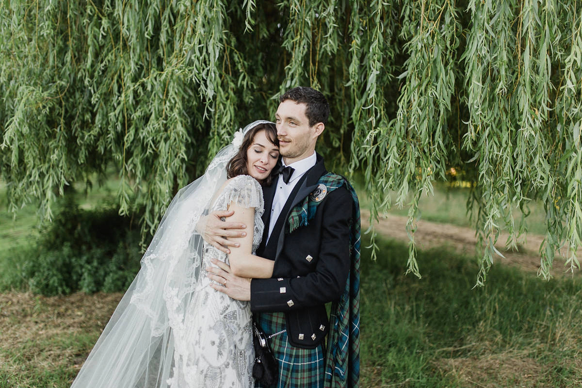 Eliza Jane Glamour and a Juliet Cap Veil for a Celtic Handfasting in France (Weddings )