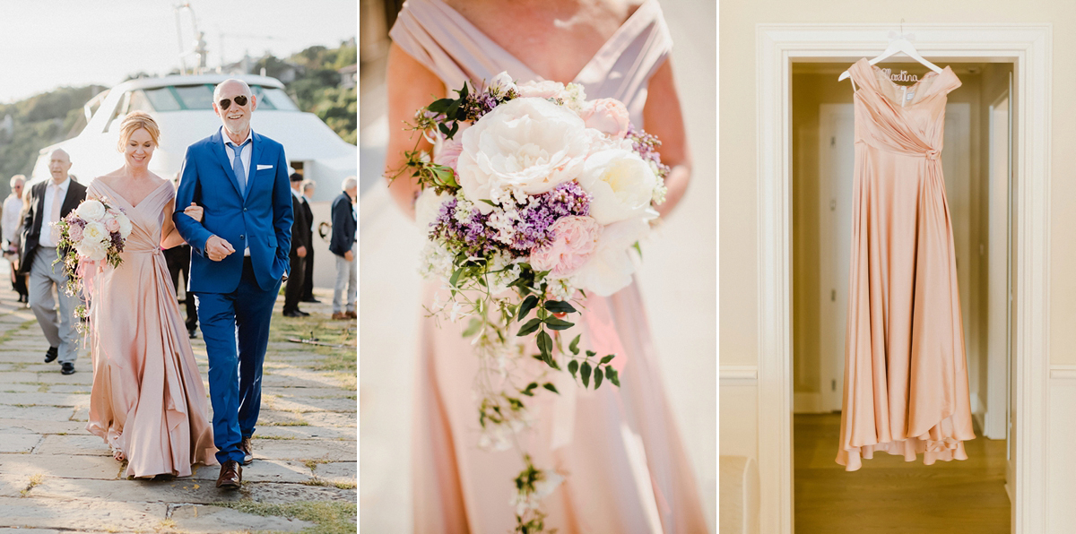 A Blush Pink Gown for an Italian Wedding Full of Love and Laughter