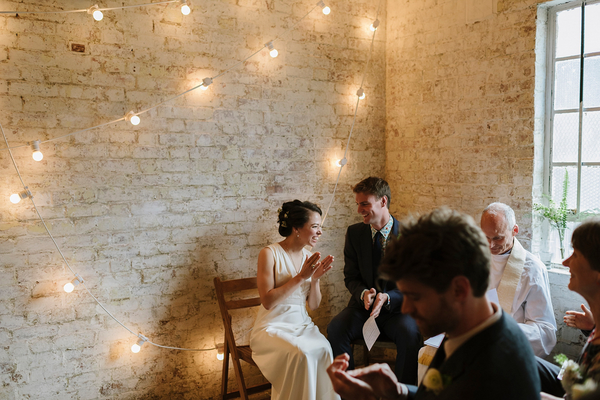 A J.Crew Dress For A Laid-Back and Modern London Warehouse Wedding