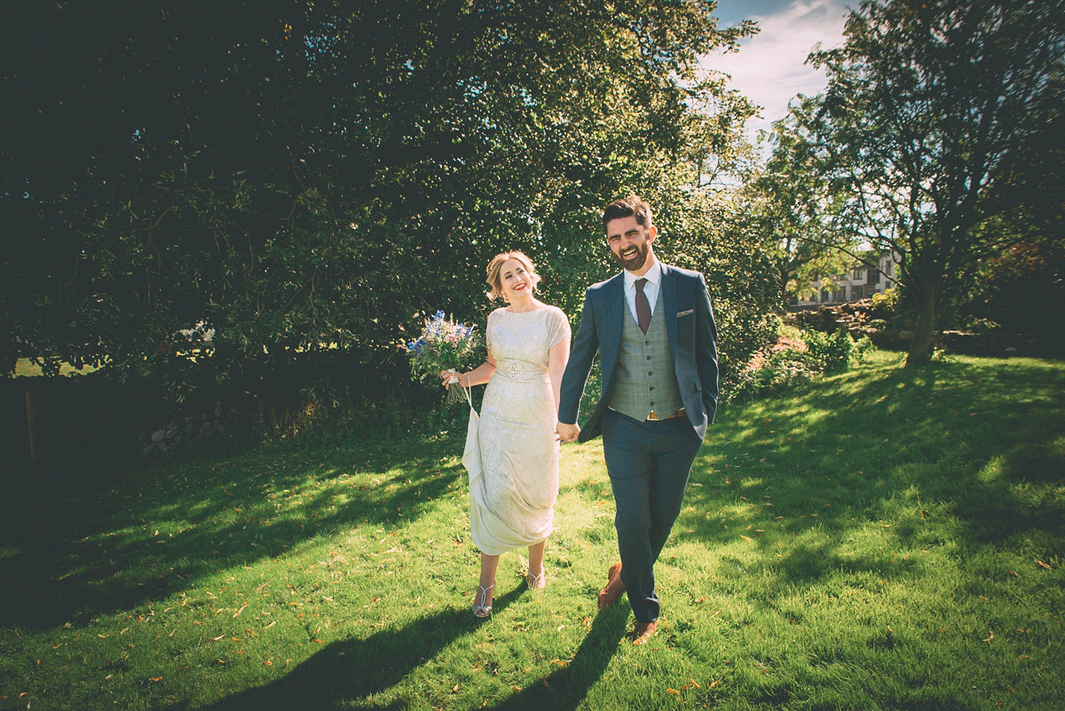 Harlow by Jenny Packham for a Sweet and Intimate Country Wedding (Weddings )