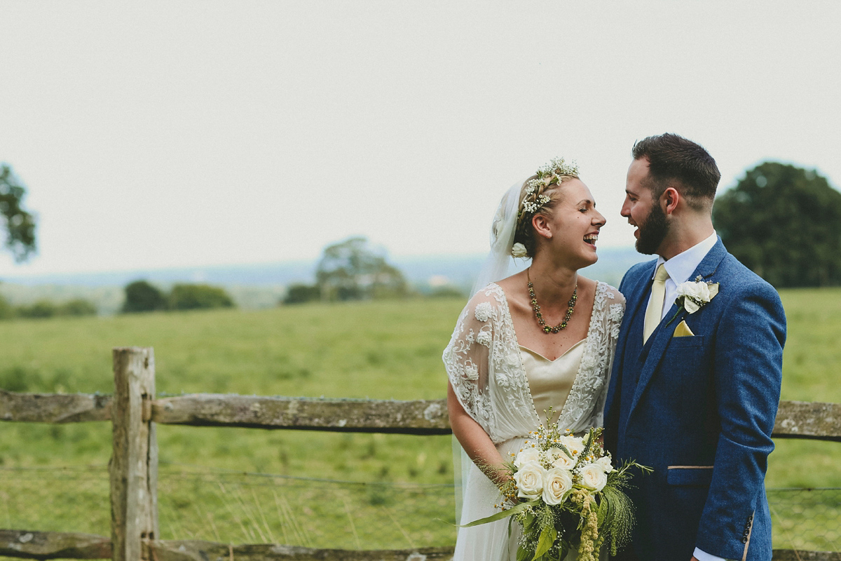 A Catherine Deane Gown for an Elegant and Ethereal Summer Garden Wedding
