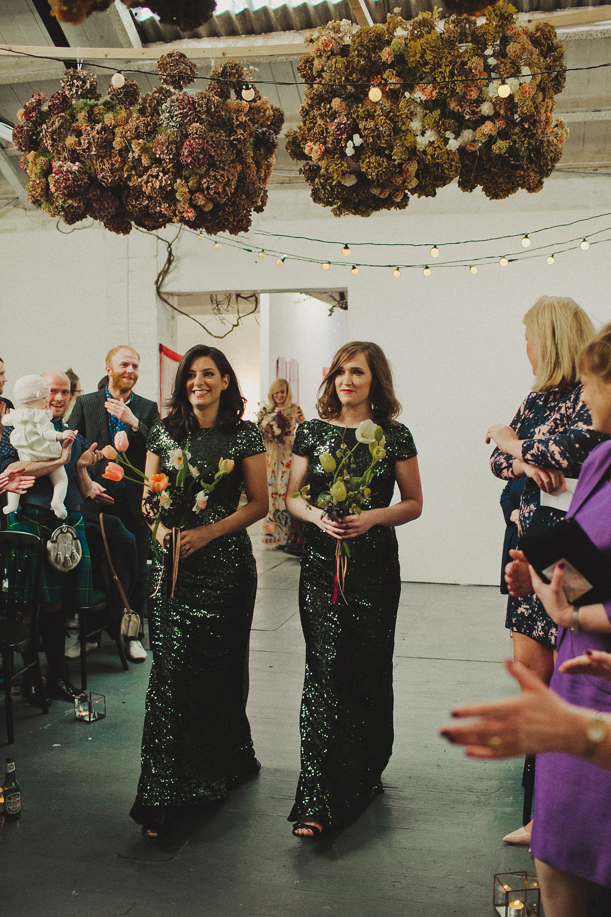 A Colourful Temperley London Dress For A Vibrant Warehouse Wedding (Weddings )