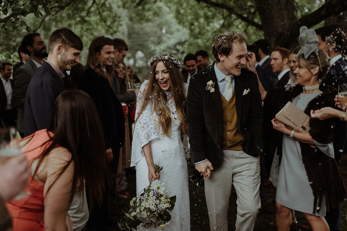 A 1970's Dress for a Vintage, Bohemian and Nature Inspired, Magical Forest Wedding