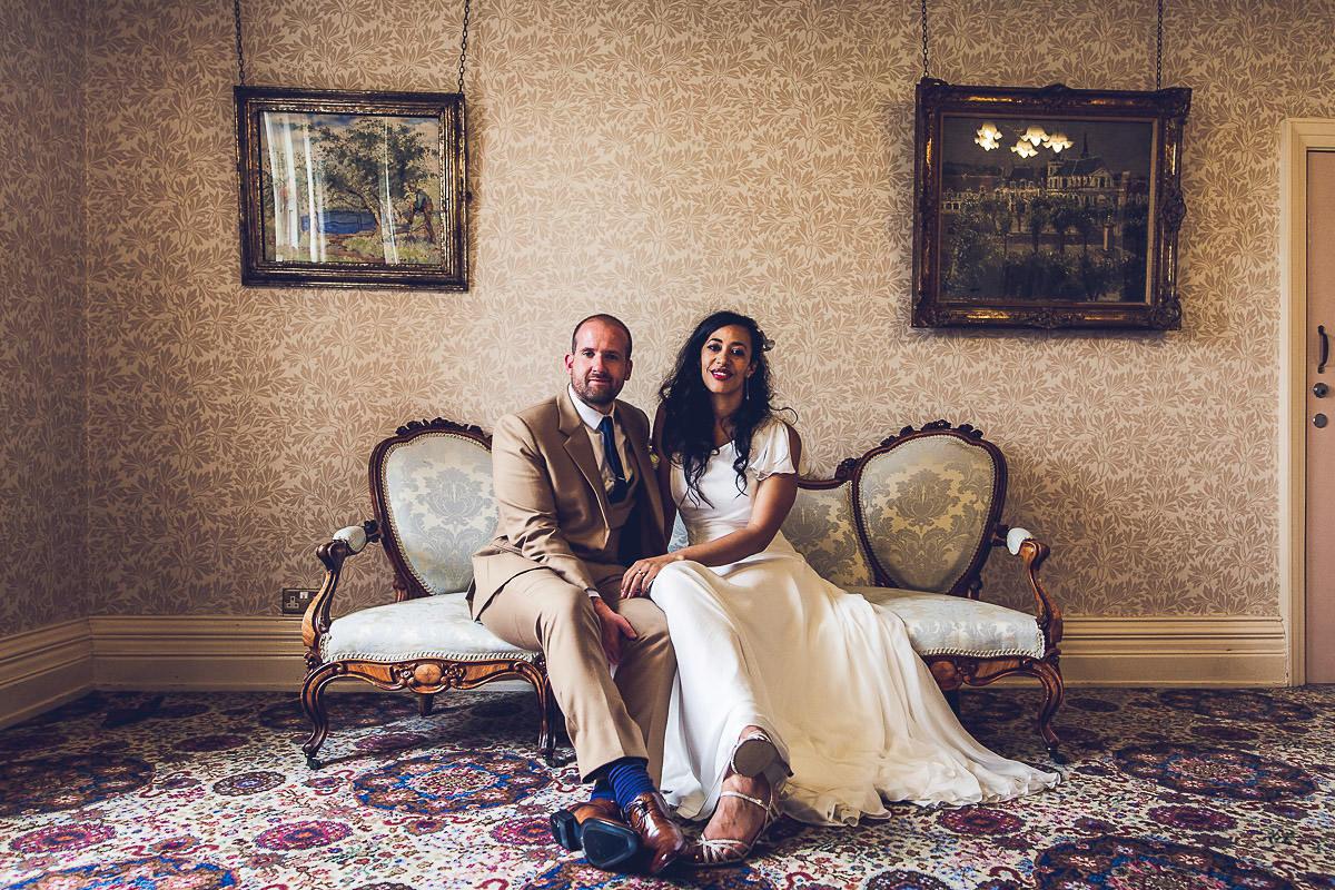 A Glamorous One-Shoulder Wedding Dress