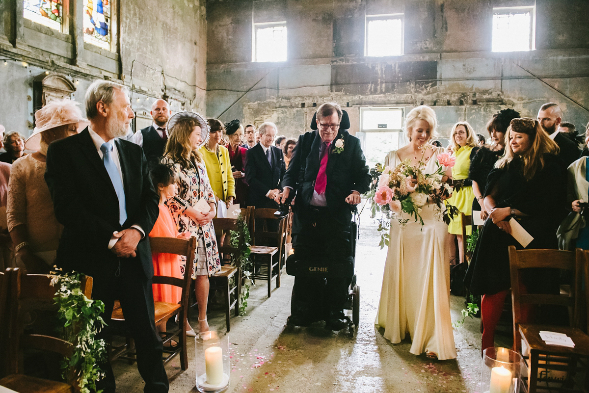 A Belle & Bunty Gown for an Industrial Glamour Inspired Wedding (Weddings )
