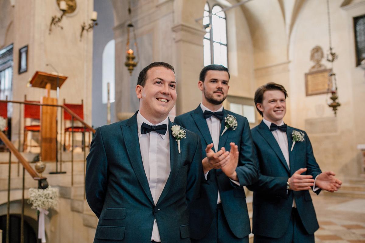 Rosa Clara and Bridesmaids in Blue for an Elegant Italian Wedding (Weddings )