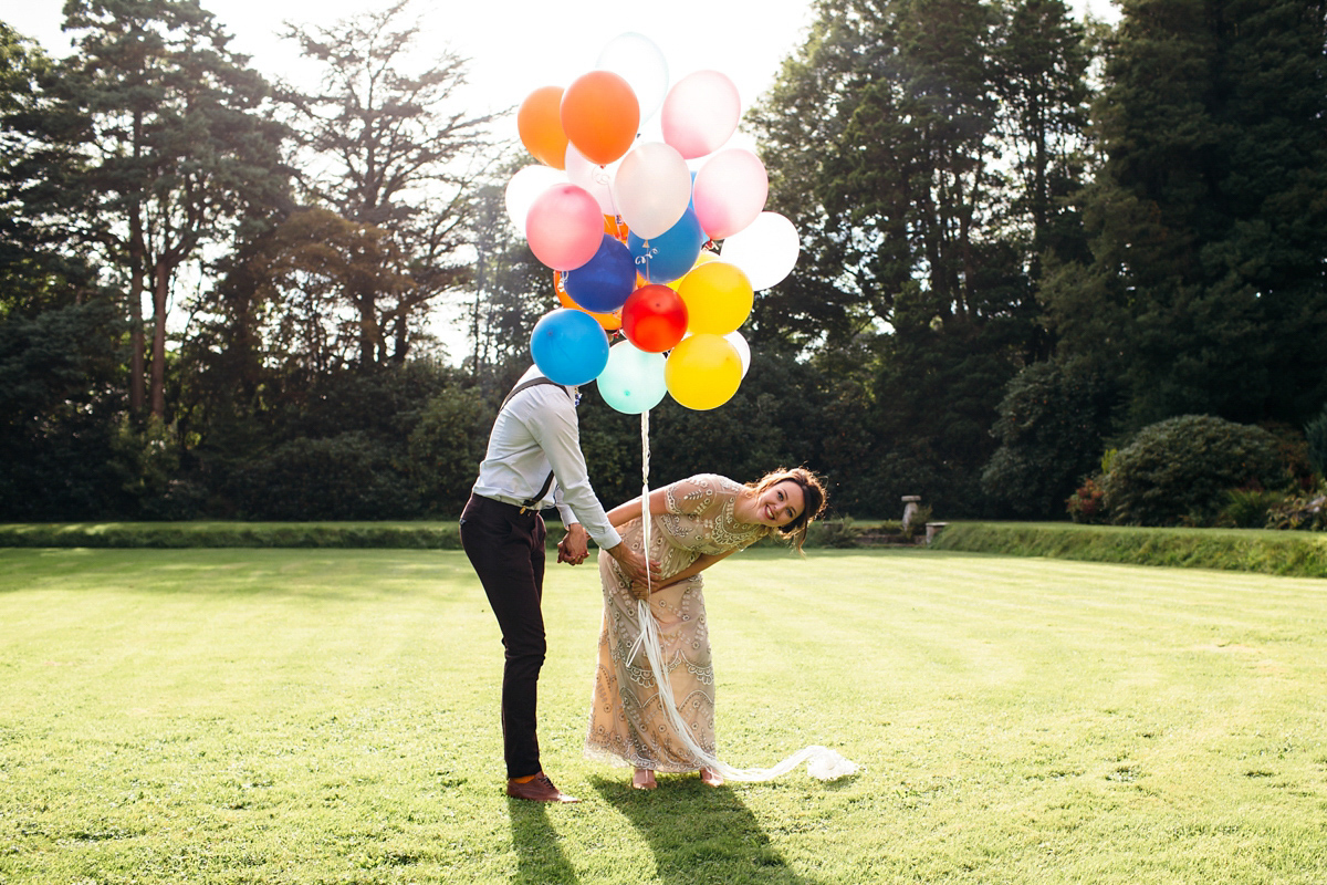 Balloons, Glitter And A Needle & Thread Gown (Films Weddings )