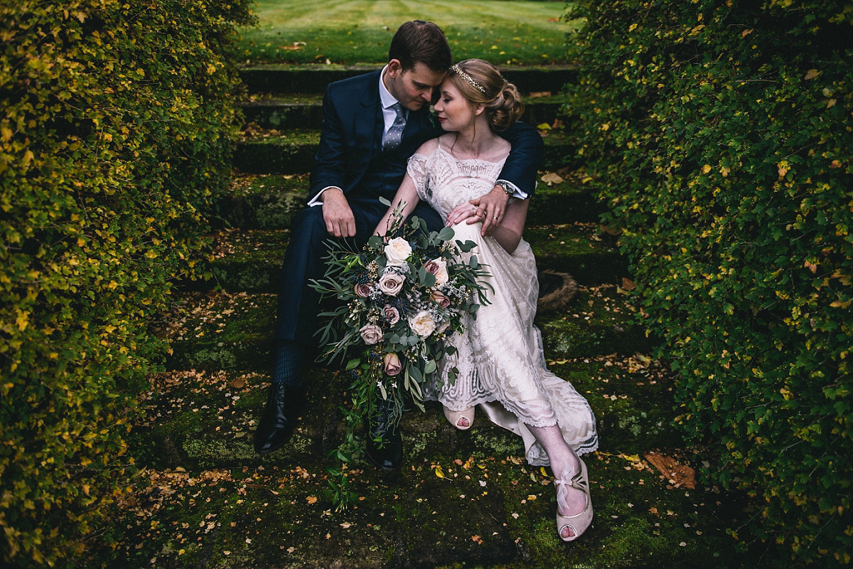 A Catherine Deane Gown for an Elegant Country House Winter Wedding