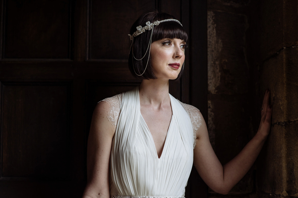 A 1920's Inspired Bride and Maids in Blue for a Classy and Elegant Spring Wedding (Bridal Fashion Weddings )