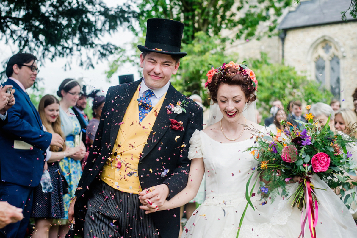 A 1950's Vintage Gown for a Laid back and Bohemian Inspired Devon Wedding (Weddings )