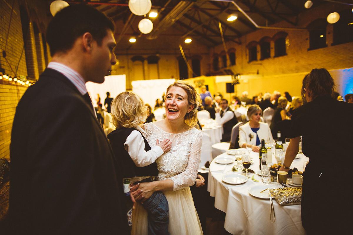 A BHLDN Dress and Velvet Flower Crown For an Industrial Inspired Winter Wedding