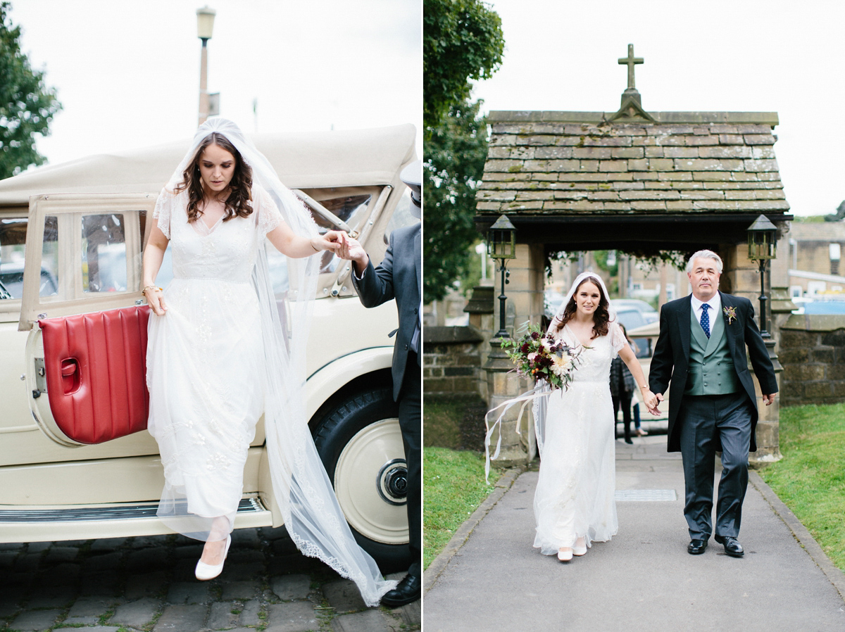A Jenny Packham Gown for a Romantic Wedding in the Bride's Parent's Garden (Weddings )