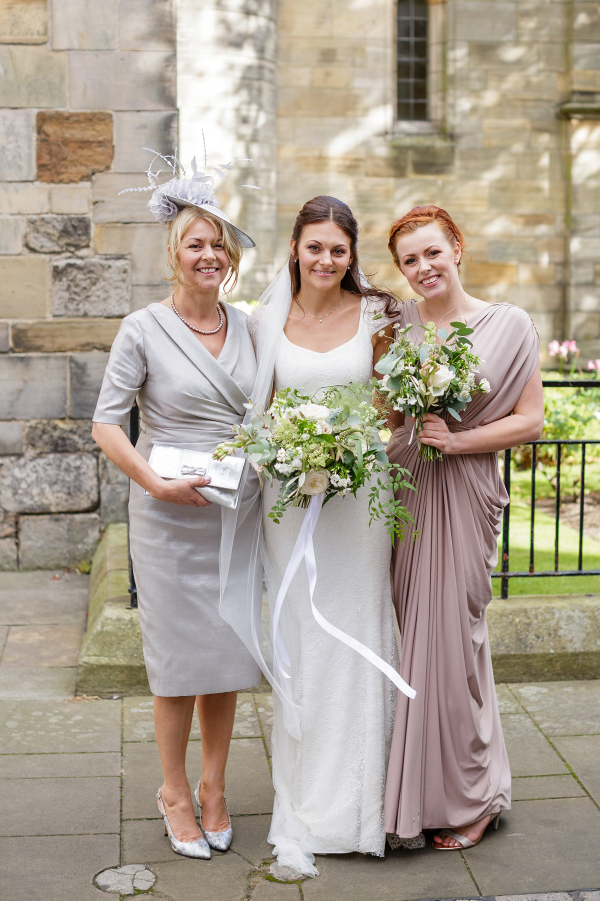 A Sequin Stewart Parvin gown for a September Wedding in Scotland