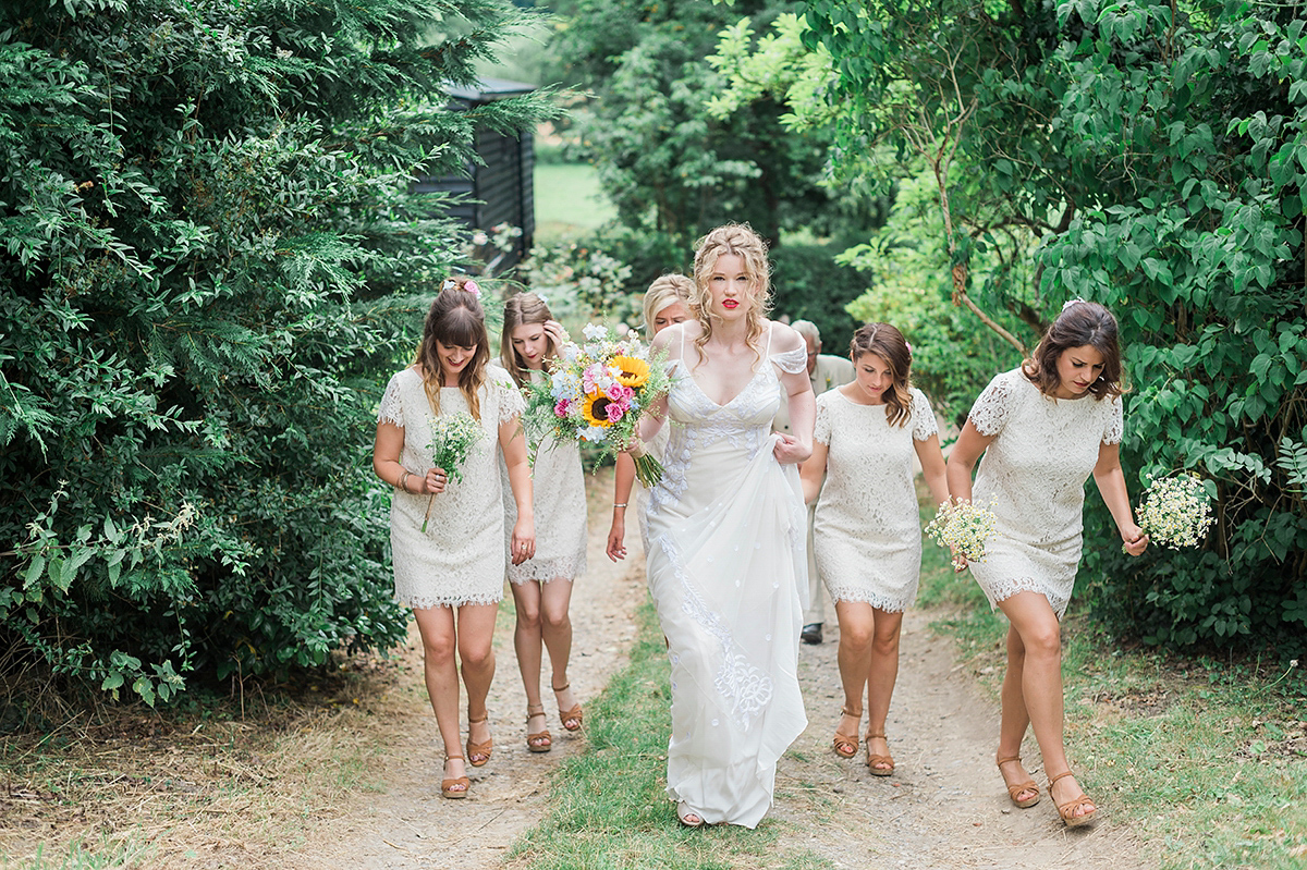 A Temperley Bridal Gown for a Flower-Filled and Whimsical Woodland Wedding (Weddings )
