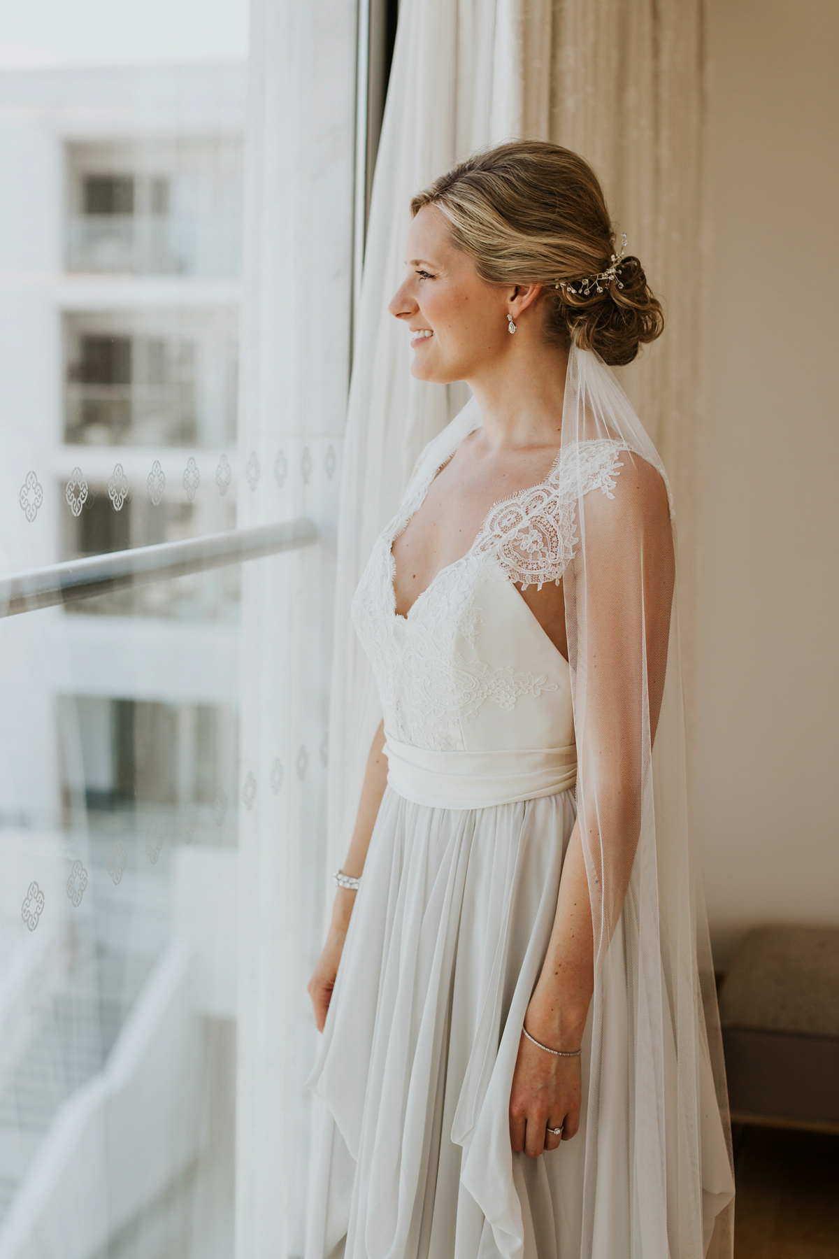 A Two-Toned Truvelle Dress for a Romantic Waterside Wedding in Portugal (Weddings )