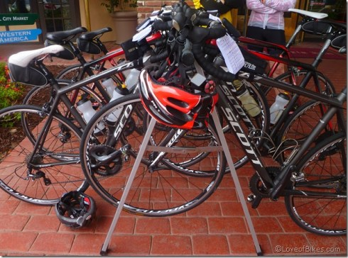 Stable of bikes