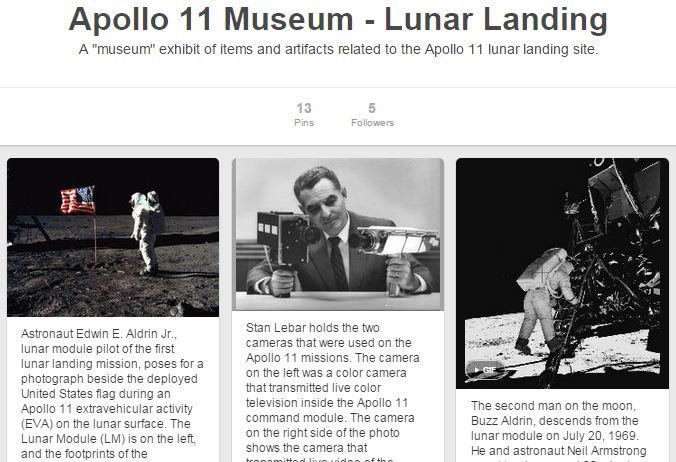 Apollo 11 Pinterest Museum
