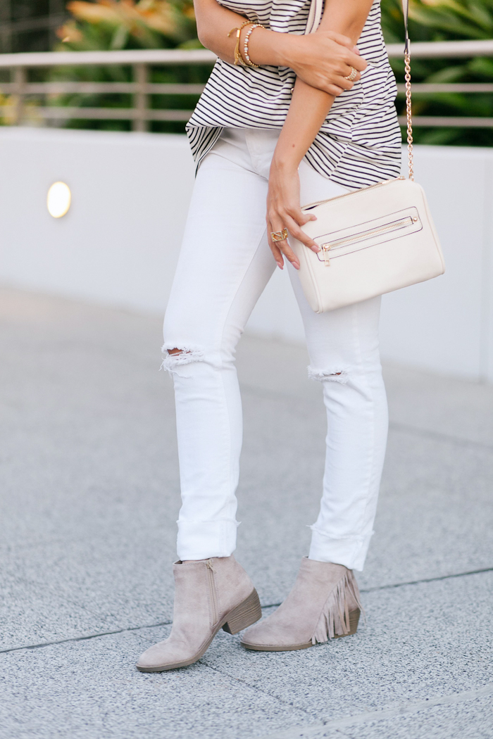 payless fringe ankle bootie