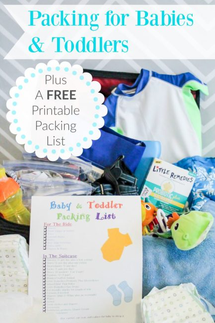 Packing for Toddlers or Babies {Free Printable Packing Checklist}