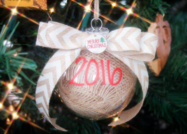 DIY Burlap Ornament Tutorial