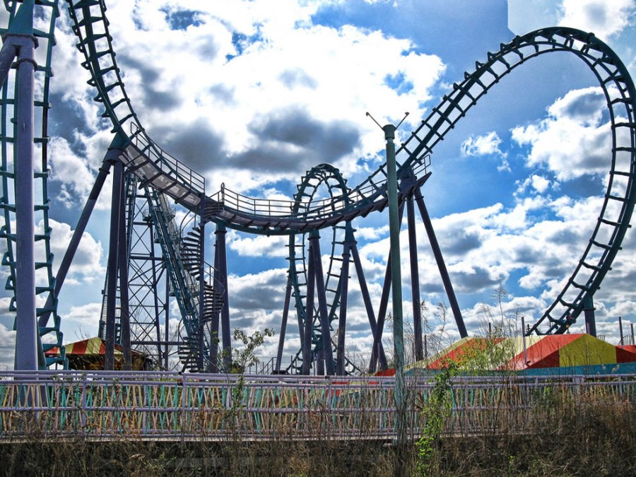 Twisted dreams and scattered screams at abandoned 6 Flags - roller coaster
