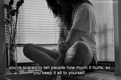 You're Scared To Tell People How Much It Hurts, So You Keep It All To Yourself Pictures, Photos ...