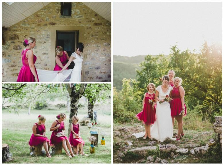 Love & Tralala Mariage champêtre en Dordogne - moments avec ses demoiselles d'honneur