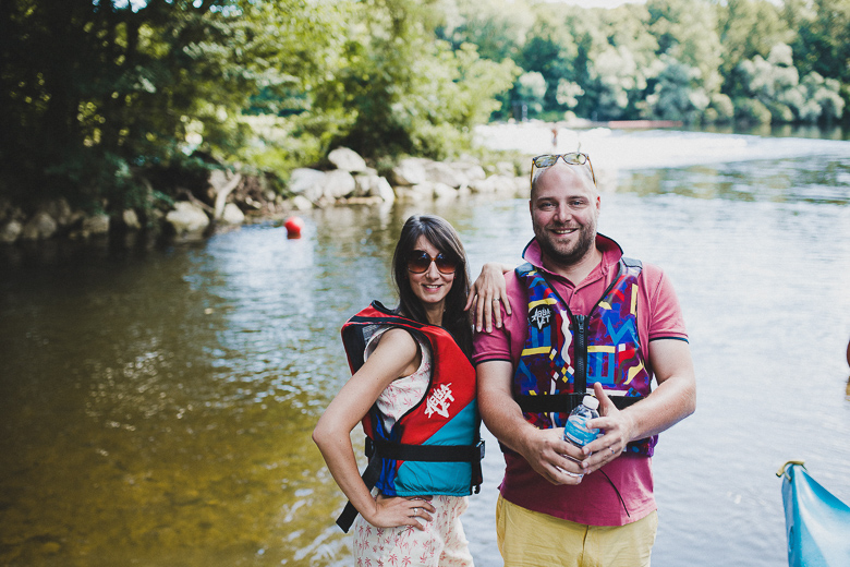 Love & Tralala Mariage champêtre en Dordogne - activité du lendemain kayak