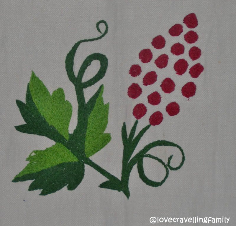Folk decorative towel, detail
