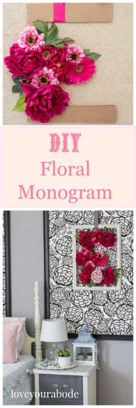 floral monogram- loveyourabode