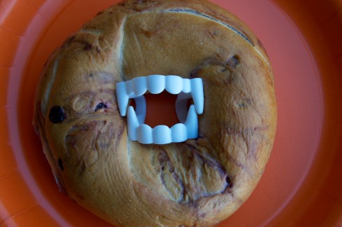Halloween Treat Bagel
