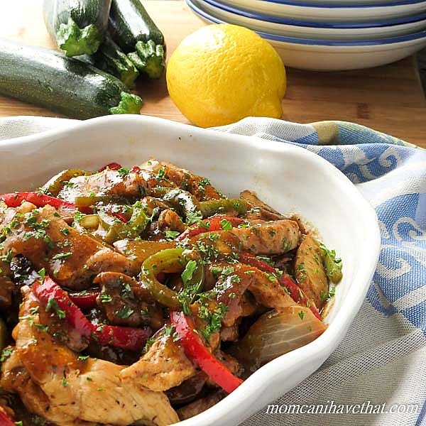 Sherry Chicken Saute with Mushrooms & Peppers delivers great Italian ...