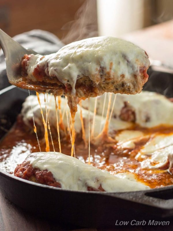 Low Carb Skillet Chicken Parmesan